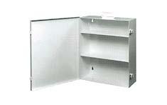 PL110 double shelf first aid cabinet
