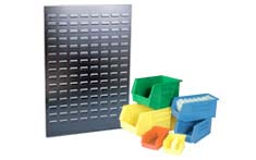 Louvered Panels and clip Bins