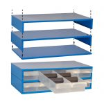 5 Drawer Stackable Display Unit